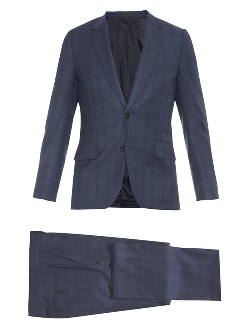 Soho Prince Of Wales Checked Wool Suit by Paul Smith in Billions - Season 1 Episode 2