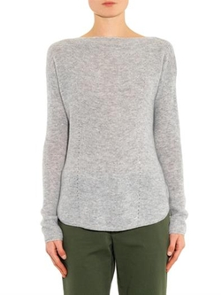 Boat- Neck Cashmere Sweater by Vince in That Awkward Moment