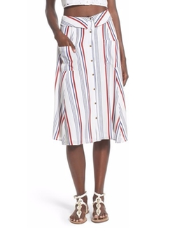 Oliver Stripe Midi Skirt by Tularosa in Supergirl