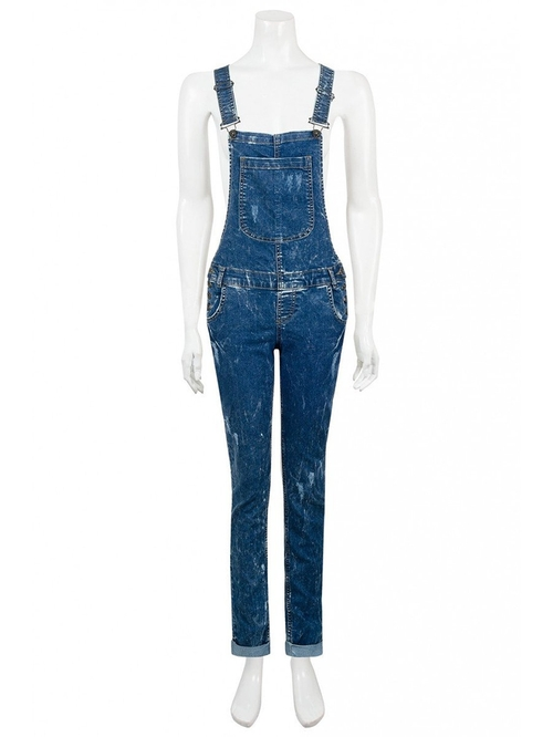 Womens Dora Rip Long Dungarees by Juliet's Kiss in Ride Along 2