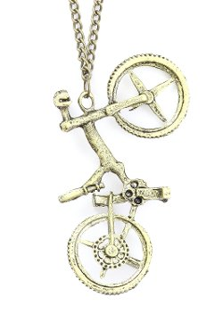 Retro Vintage Bicycle Necklace by Magic Metal in New Year's Eve