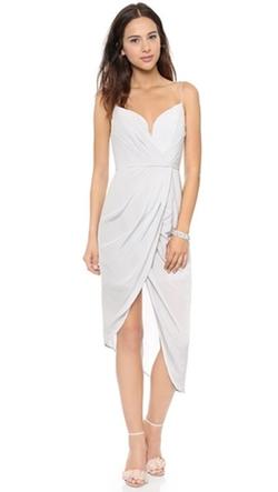 Silk Plunge Draped Dress by Zimmermann in Billions