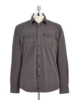 Solid Button-Down Shirt by Strellson in Addicted