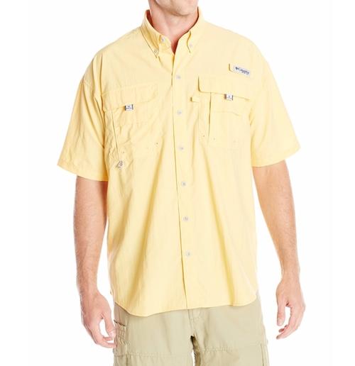 Men's Bahama II Short-Sleeve Shirt by Columbia in Gold