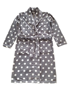 Coral Fleece Bath Robe by Xmas Sky in Mistresses