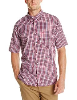 Men's Short Sleeve Black Mini Check Pattern by Dockers in Need for Speed
