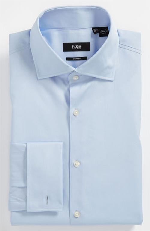 'Malvin' Sharp Fit Dress Shirt by BOSS HUGO BOSS in The Wolf of Wall Street