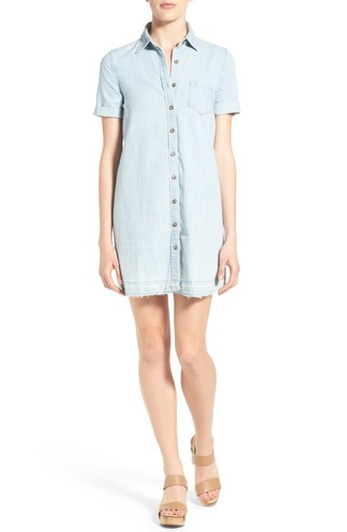 'The Jensen' Released Hem Chambray Shirtdress by AG in The Notebook