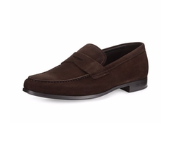 Suede Rubber-Sole Penny Loafer by Giorgio Armani in Keeping Up with the Joneses