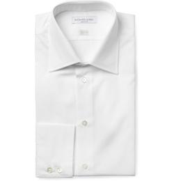 Cotton-Poplin Shirt by Richard James in Black Mass