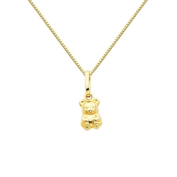 Teddy Bear Charm Pendant Necklace by GoldenMine in The DUFF