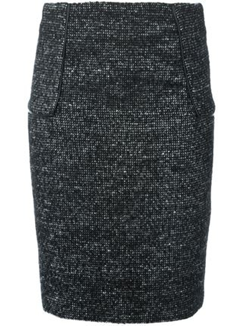 Tweed Pencil Skirt by Michael Kors in The Good Wife - Season 7 Episode 4