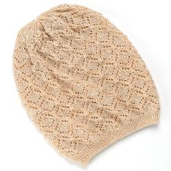 Patterned Knit Beanie by David & Young in Unbroken