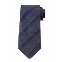 Herringbone-Stripe Silk Tie by Giorgio Armani in Suits