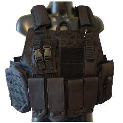 Tactical Combat Patrol M.Release Army Assault MOLLE Vest Carrier Police Black by CamoOutdoor in Transcendence