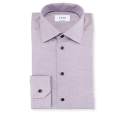 Contemporary-Fit Textured Woven Dress Shirt by Eton in Designated Survivor