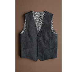 Herringbone Vest by Johnston & Murphy in Pan