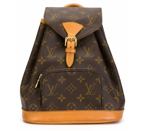 Vintage Logo Print Backpack   by Louis Vuitton  in Pretty Little Liars - Season 7 Episode 7