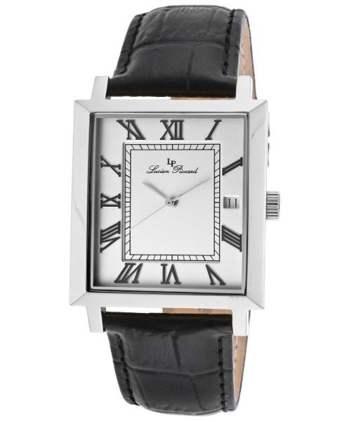 Men's Bianco Silver Dial Black Genuine Leather Watch by Lucien Piccard in Frank Miller's Sin City: A Dame To Kill For