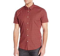 Men's Short-Sleeve Slim-Fit Button Down Shirt by John Varvatos Star USA in The Flash