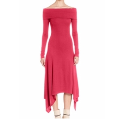 Solid Off-The-Shoulder Dress by Derek Lam in Empire