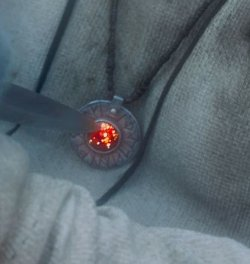 Custom Made Rune Necklace (Tom Ward) by Jacqueline West (Costume Designer) in Seventh Son