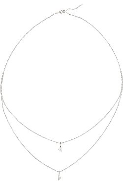 Solitaire White Gold Diamond Necklace by Maison Martin Margiela Fine Jewelry in Begin Again