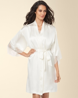 Silk Lace Short Robe by Soma in By the Sea