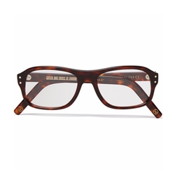 Square-Frame Tortoiseshell Acetate Optical Glasses by Kingsman + Cutler And Gross in Kingsman: The Golden Circle