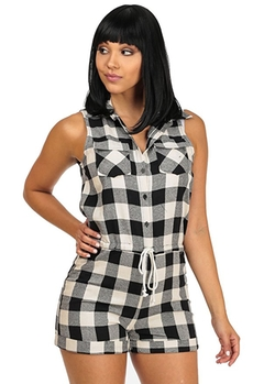 Plaid Summer Short Jumper by Moda Xpress Online in Sisters