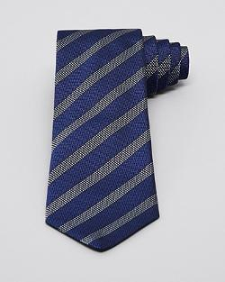 Herringbone Ground with Diamond Pattern Stripe Classic Tie by John Varvatos in Savages