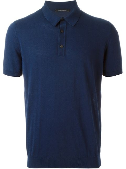 Fine Knit Polo Shirt by Roberto Collina in Vinyl