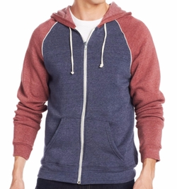 Zip Up Raglan Jacket by Alternative Apparel in Teen Wolf