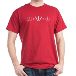 Flash Equation T-Shirt by Cafe Press in The Big Bang Theory