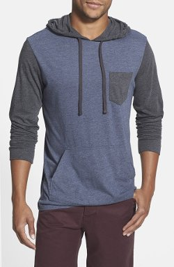 'Set Up' Lightweight Jersey Hoodie by RVCA in The DUFF