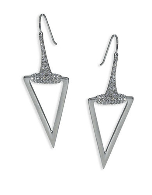 Rebel Soul Triangle Drop Earrings by A.B.S. By Allen Schwartz  in The Great Indoors - Season 1 Preview