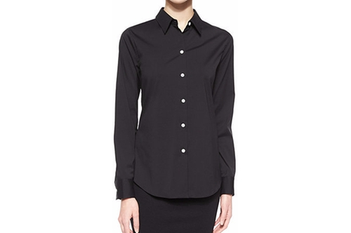 Tenia Long-Sleeve Blouse by Theory in Miss Sloane