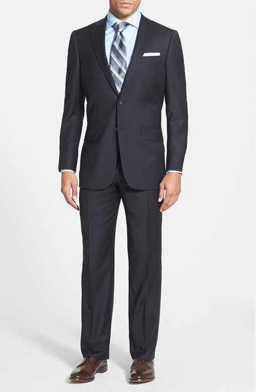 New York Classic Fit Wool Suit by Hart Schaffner Marx in The Loft