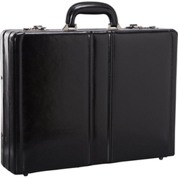 Leather Expandable Attaché Case by Mancini Leather Goods in Suits