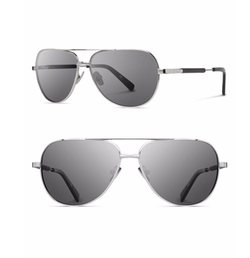 Titanium & Wood Aviator Sunglasses by Shwood in Rosewood