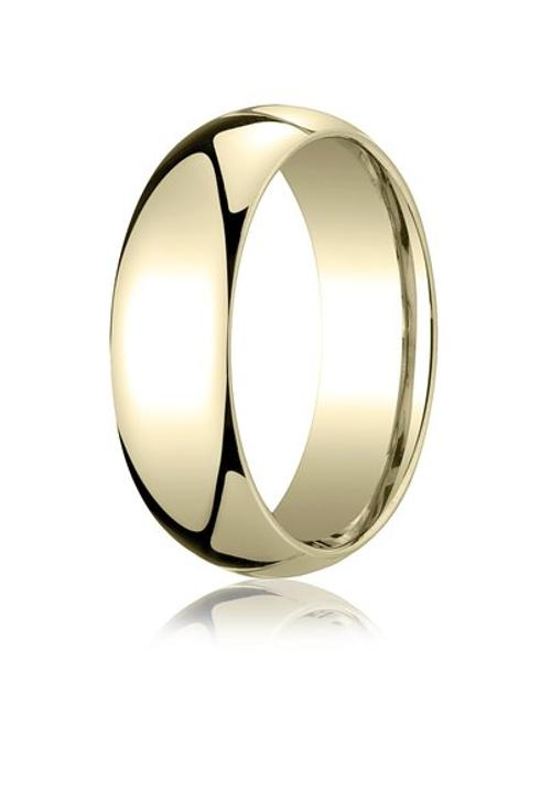 Gold 7mm Slightly Domed Standard Comfort-Fit Ring by Aetonal in If I Stay