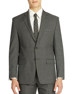 Classic Fit Grey Sharkskin 2 Button Blazer by Ralph Lauren in The Blacklist