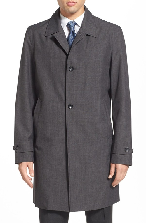 Trim Fit Waterproof Overcoat by Michael Kors in The Blacklist - Season 3 Episode 10