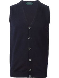 Buttoned Knit Waistcoat by Zanone in Youth