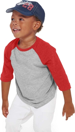 Toddler Vintage Baseball Tee Shirt by LAT Sportswear in Before I Wake