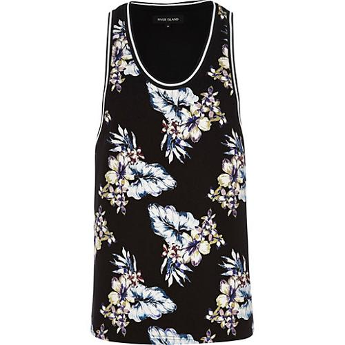 Floral Print Scoop Neck Tank by River Island in No Strings Attached