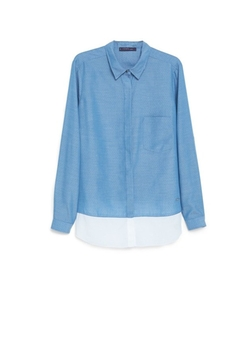 Contrast Hem Shirt by Violeta By Mango in The Intern