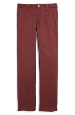 'Outsider' Stretch Cotton Chino Pants by Billabong in Poltergeist