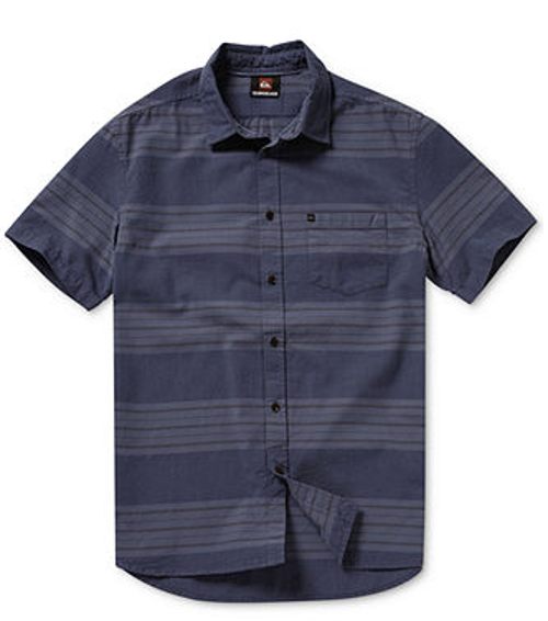 Redondo Short Sleeve Woven Shirt by Quiksilver in Let's Be Cops