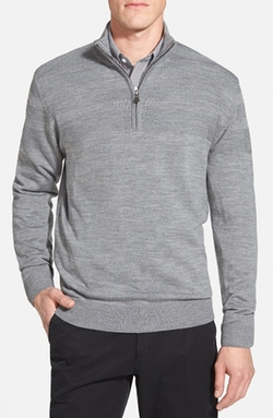 Wool Blend Half Zip Sweater by Cutter & Buck in Ballers